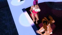 Futanari fuck in the strip bar - 3d cartoon porn
