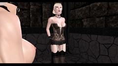 Futanari fuck domination - girl with dick fucks her sexy slave