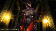 Busty demonic girls with big cocks in 3d cartoon