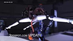 Futuristic monster fuck between robots and aliens
