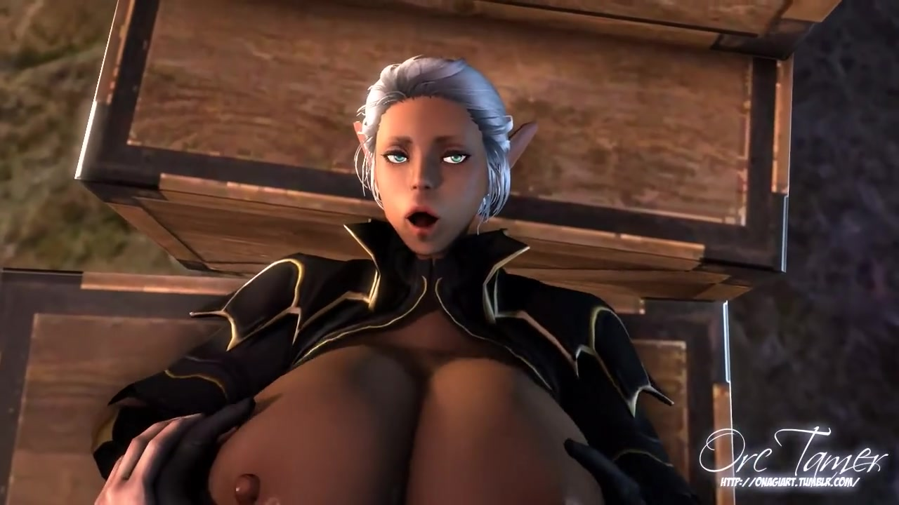 3D Big Tits Tumblr this elf girl has really huge tits in 3d toon
