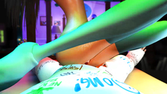 POV 3d fuck with long-legged skinny chick