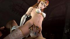 Beautiful elvish princess rides hard cock