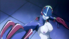Futuristic monsters and sexy naked girls in hentai clip