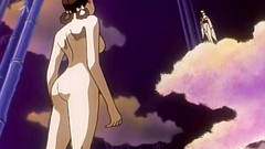 Handsome anime brunette babe in old school hentai cartoon