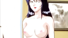Sweet redhead and brunette babes in hentai cartoon