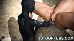 Black monster missionary fucks naked elvish girl