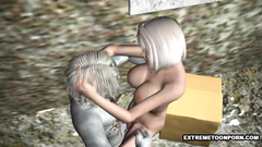 Hot 3d blonde with big and sexy juggs fucked by horny monster