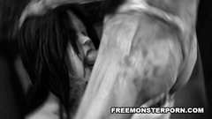 Evil and horny zombie fucks naked petite cutie
