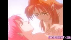 Cute Hentai Lesbian Licking