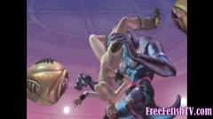 3D Battle of Sexes: Pussy Vs. Monstercocks