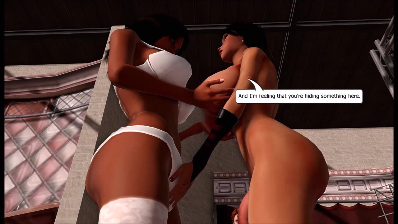 Animated Futa Porn Big Balls photoshoot with a cock growing star - trailer