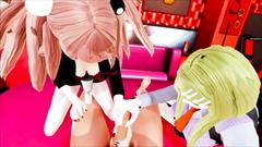 Junko and Kaede 3d hentai