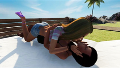 Shemale Fucks Girl in Hot 3D Game!