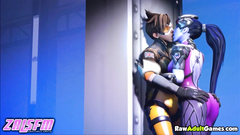Overwatch sex with Tracer and hot Dva
