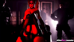 Hot Harley Quinn fucked by lots of dicks