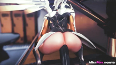 Overwatch sex with Tracer and Mercy fucking